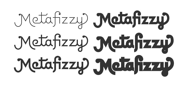 Metafizzy wordmark v4 weights